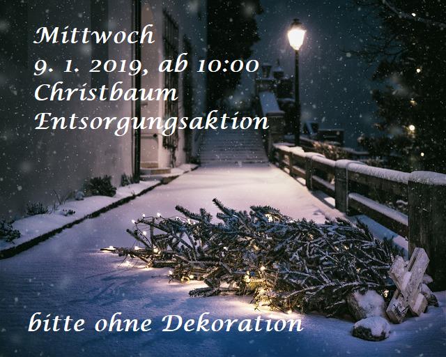 Christbaumentsorgung